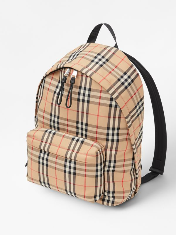 Vintage Check Nylon Backpack in Archive Beige | Burberry Australia - cell image 3