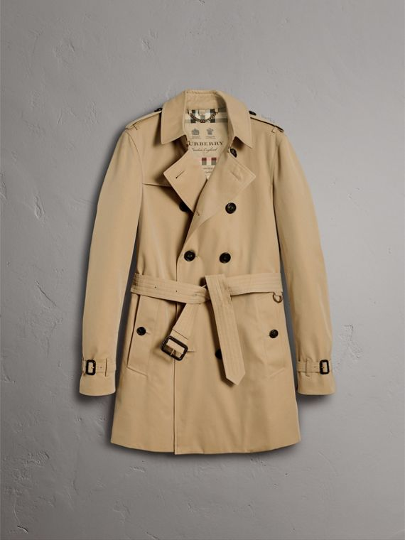 The Chelsea – Mid-length Heritage Trench Coat in Honey - Men | Burberry Singapore - cell image 3