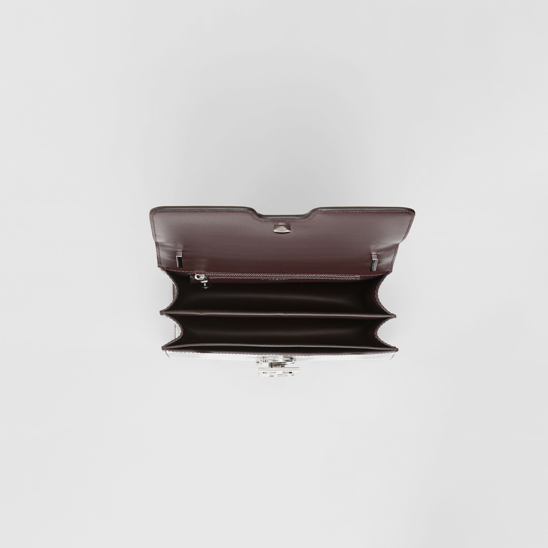 Small Cow Print Leather TB Bag in Mahogany Red - Women | Burberry - gallery image 4