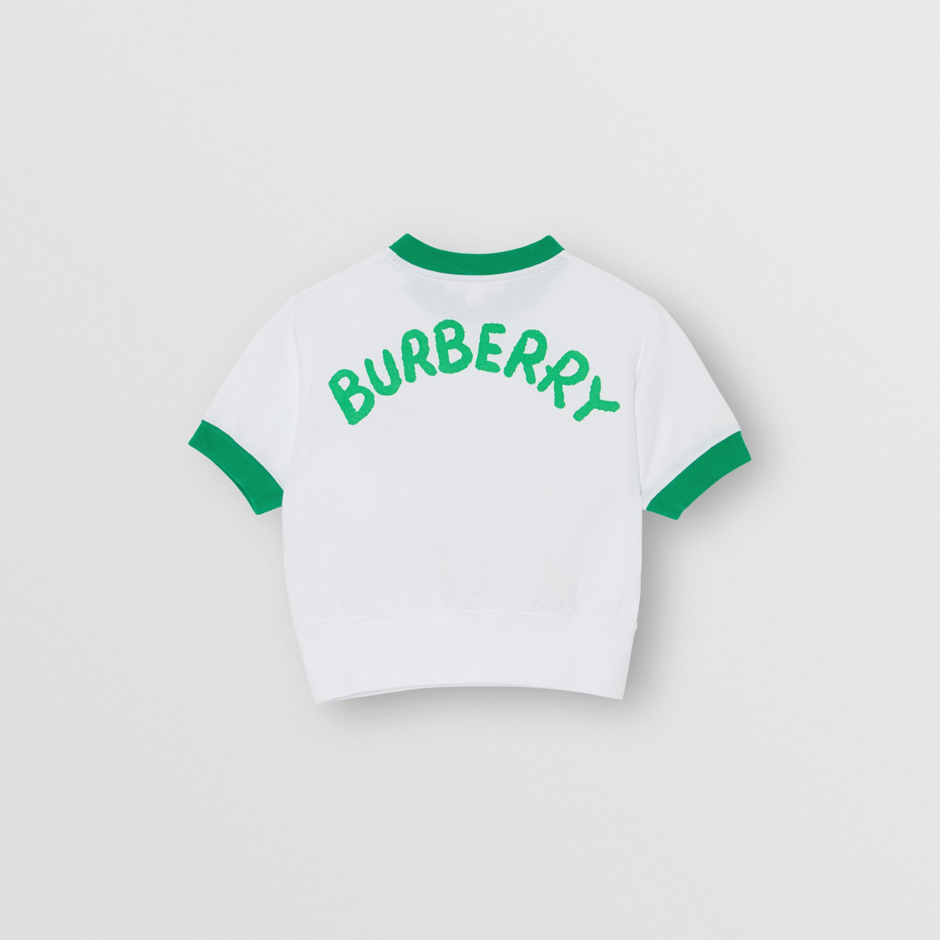 Cartoon Print Cotton T-shirt in White - Girl | Burberry - gallery image 3