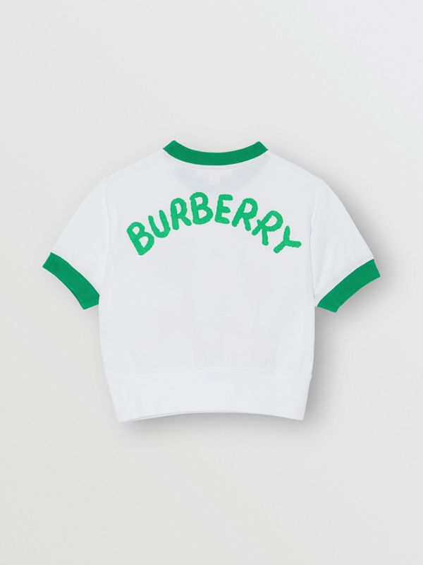 Cartoon Print Cotton T-shirt in White - Girl | Burberry Singapore - cell image 3