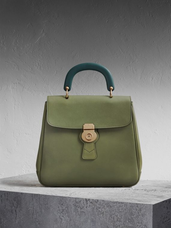 The Large DK88 Top Handle Bag Moss Green
