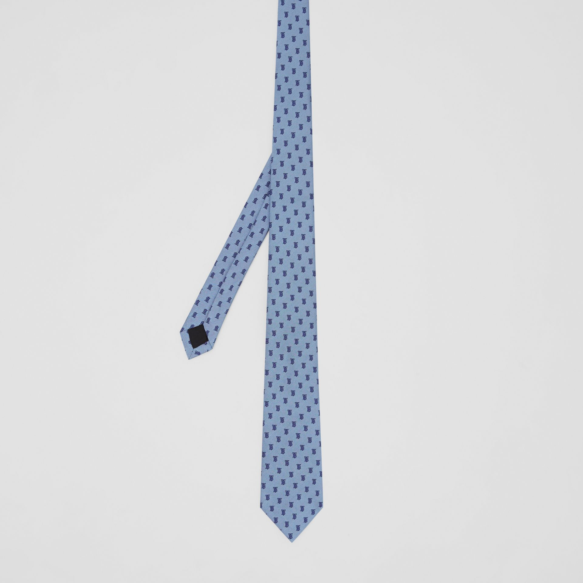 Classic Cut Monogram Silk Jacquard Tie in Pale Blue - Men | Burberry - gallery image 4
