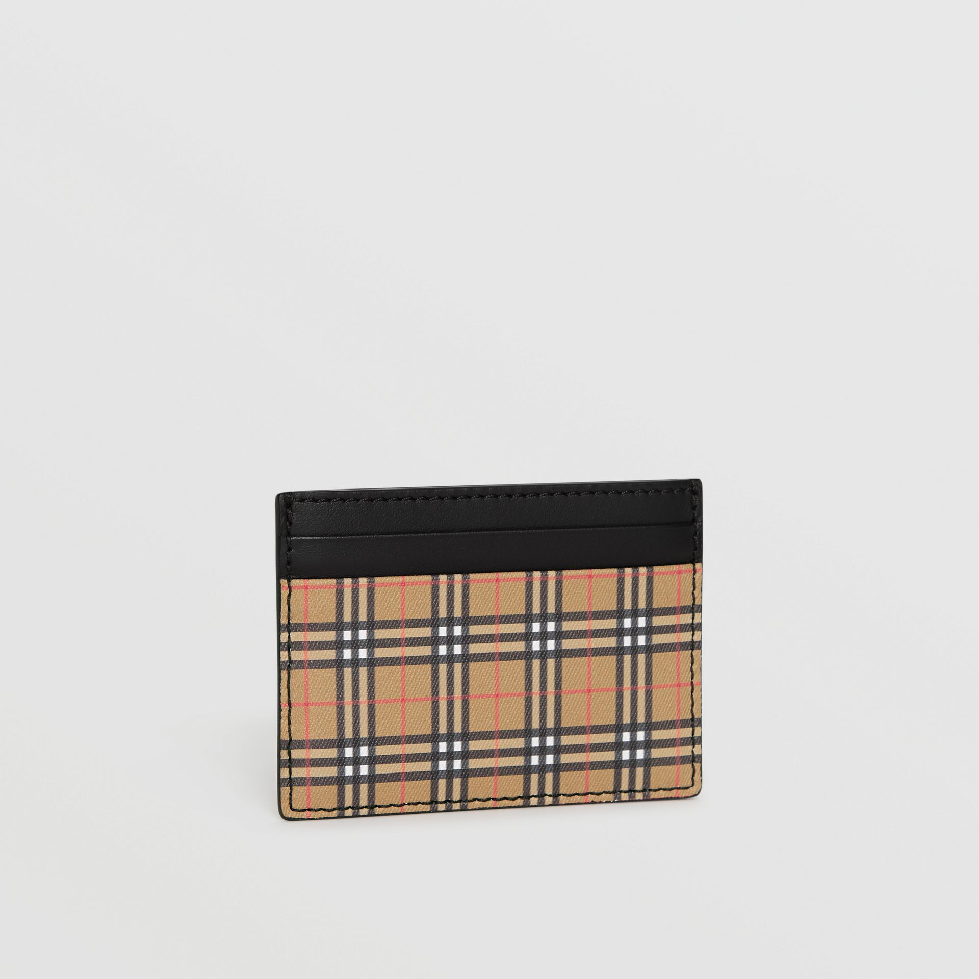 Vintage Check and Leather Card Case in Antique Yellow/black - Men | Burberry Hong Kong - gallery image 3