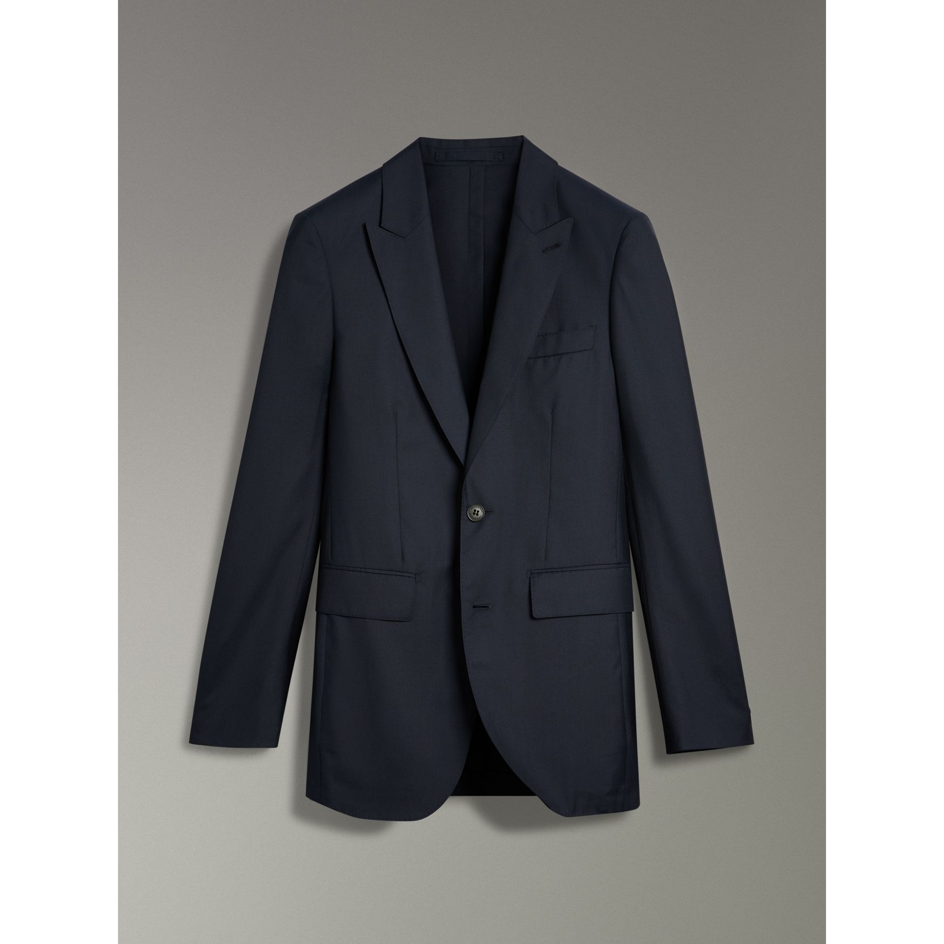 Slim Fit Three-piece Wool Silk Evening Suit in Navy - Men | Burberry - gallery image 2