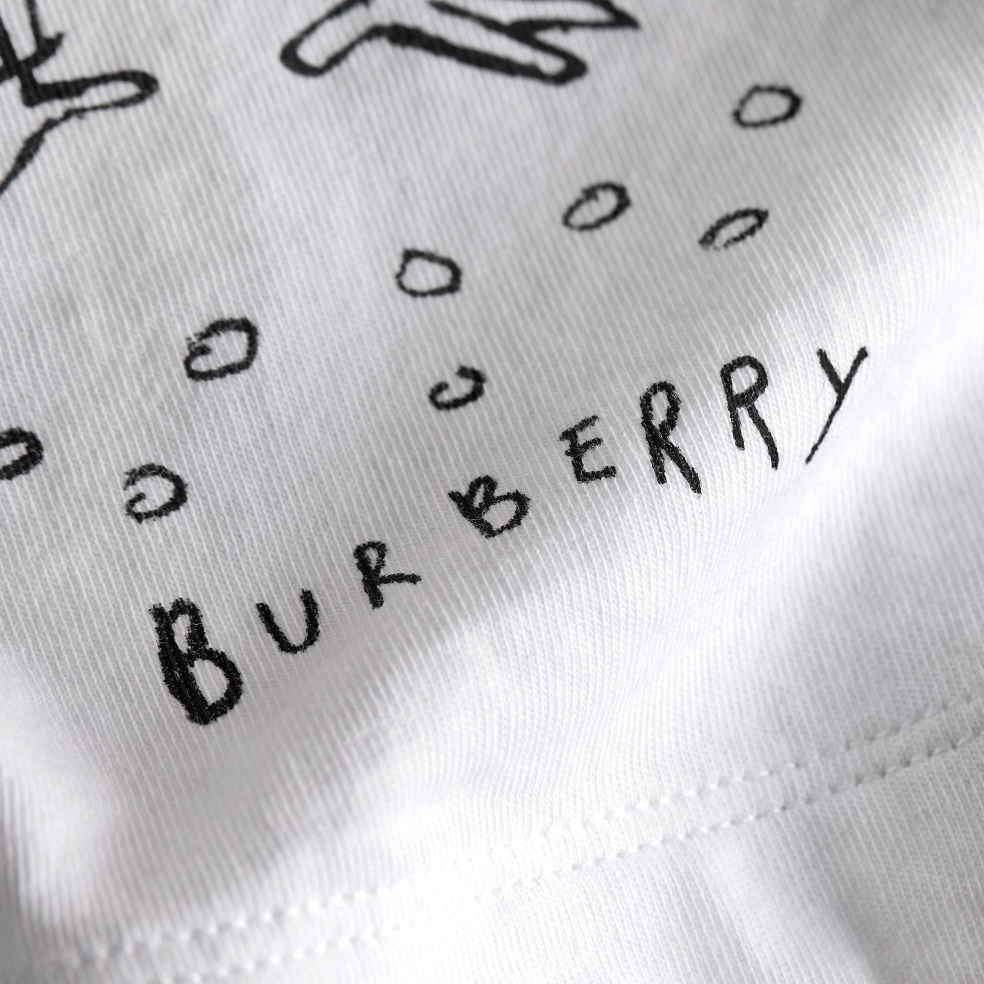 London Icons Print Cotton T-shirt in White - Boy | Burberry - gallery image 2
