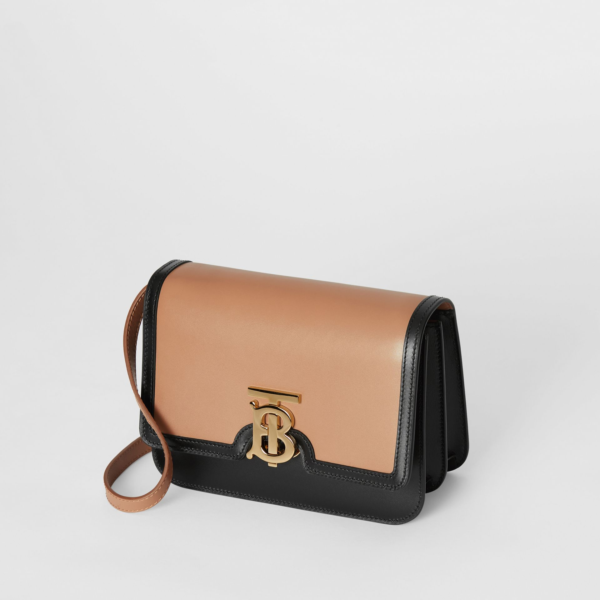 Small Leather TB Bag in Light Camel/black - Women | Burberry United Kingdom - gallery image 3
