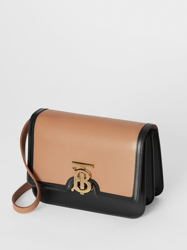 Small Leather TB Bag in Light Camel/black - Women | Burberry United Kingdom - cell image 3