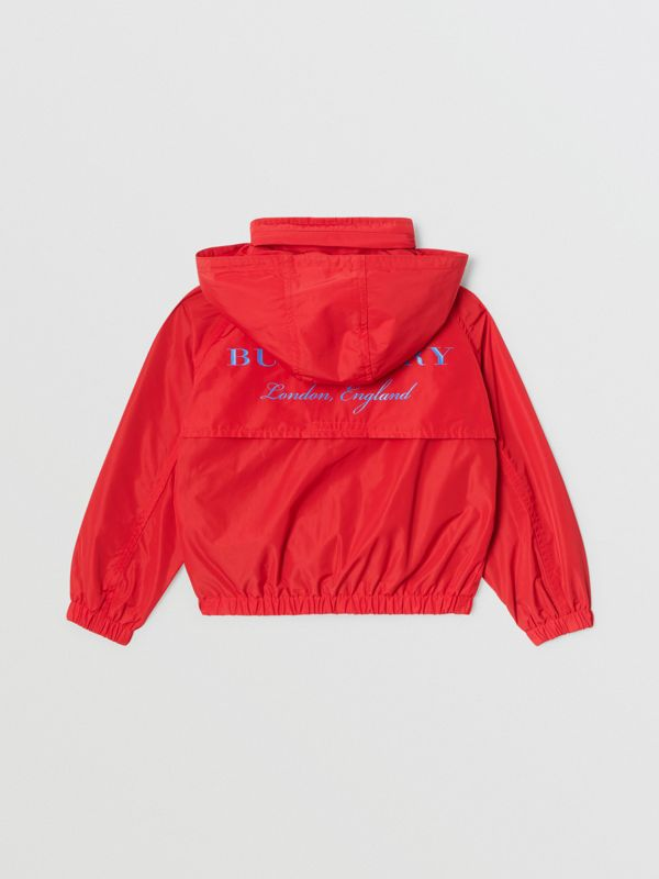 Packaway Hood Shape-memory Taffeta Jacket in Red | Burberry United States - cell image 3