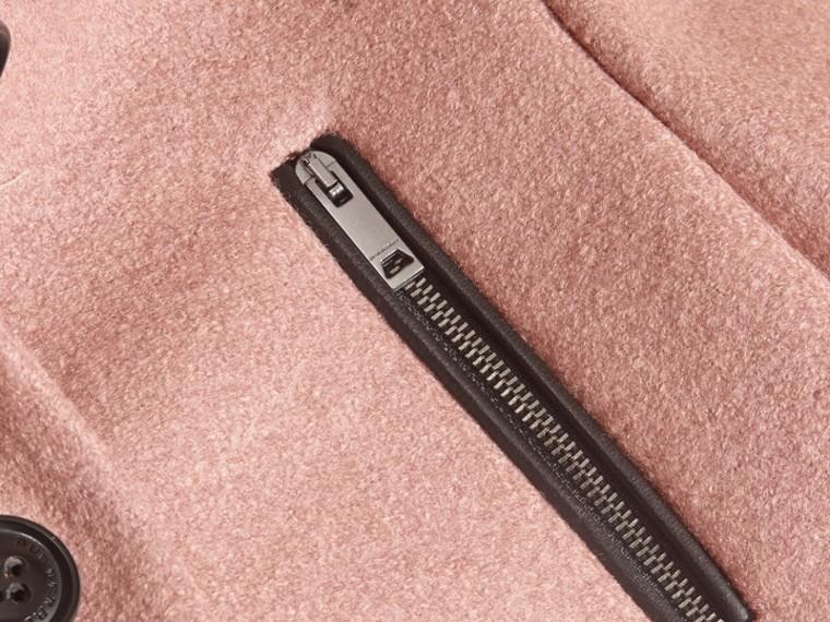 Rose cendré pâle Manteau en laine avec zip Rose Cendré Pâle - cell image 1