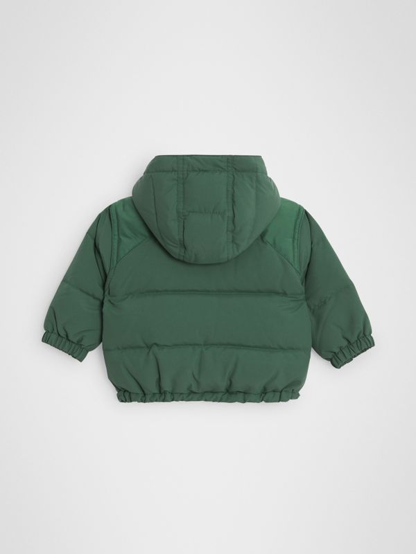 Down-filled Hooded Puffer Jacket in Veridian Green - Children | Burberry - cell image 3