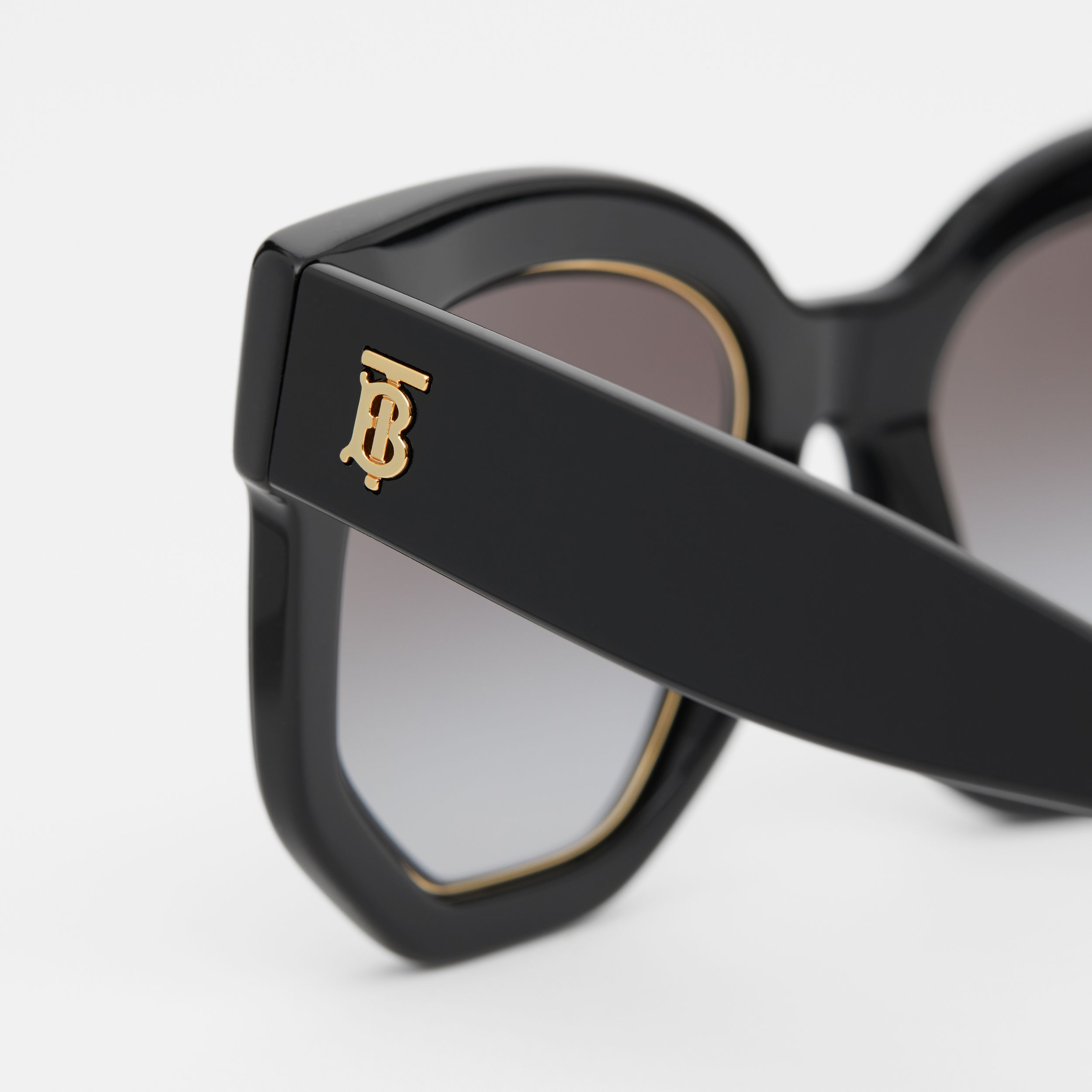 Geometric Frame Sunglasses in Black - Women | Burberry - 2