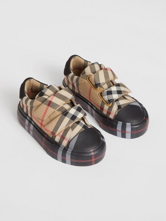 Sneakers en coton check (Beige D'archive/noir)