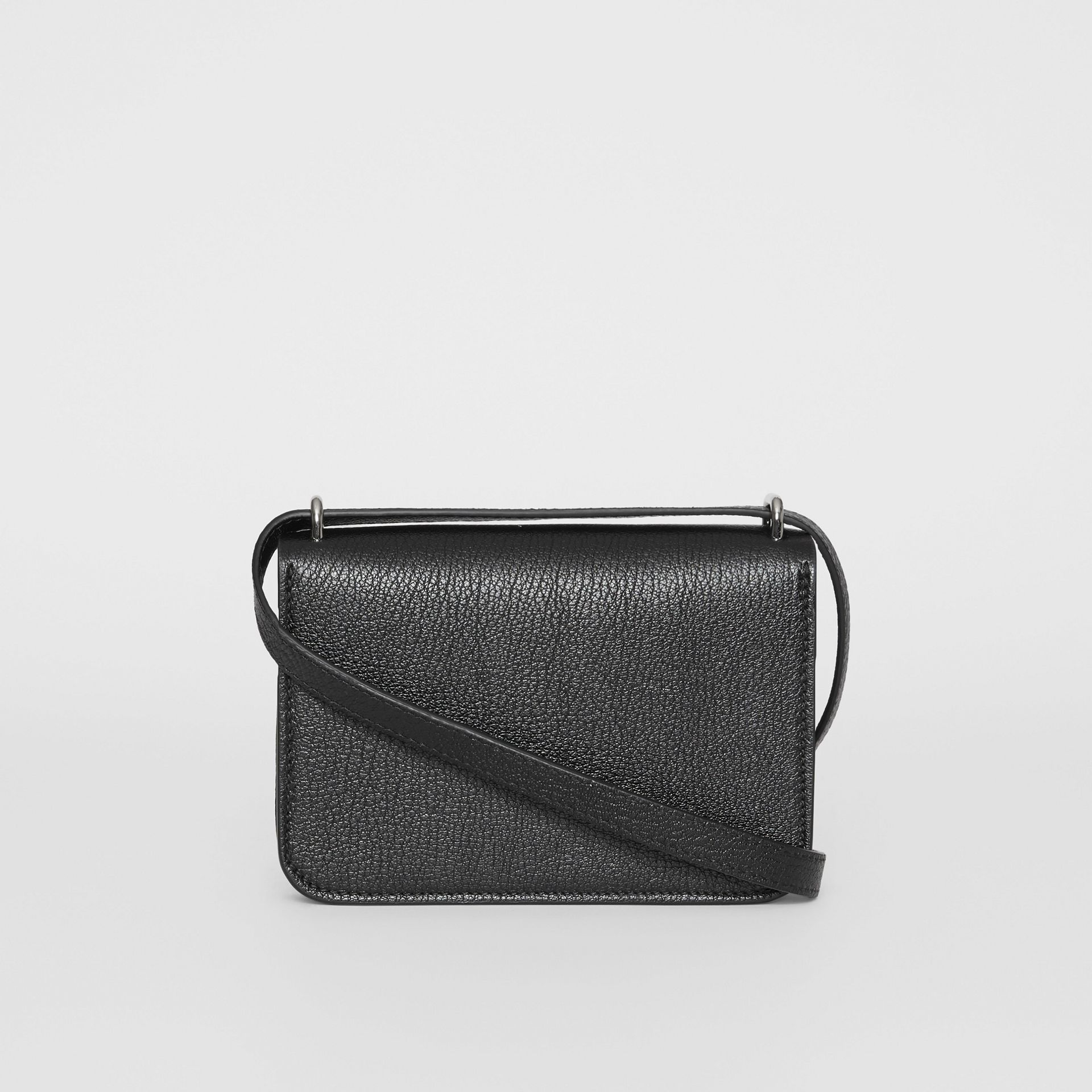 The Mini Leather D-ring Bag in Black - Women | Burberry United States - gallery image 7