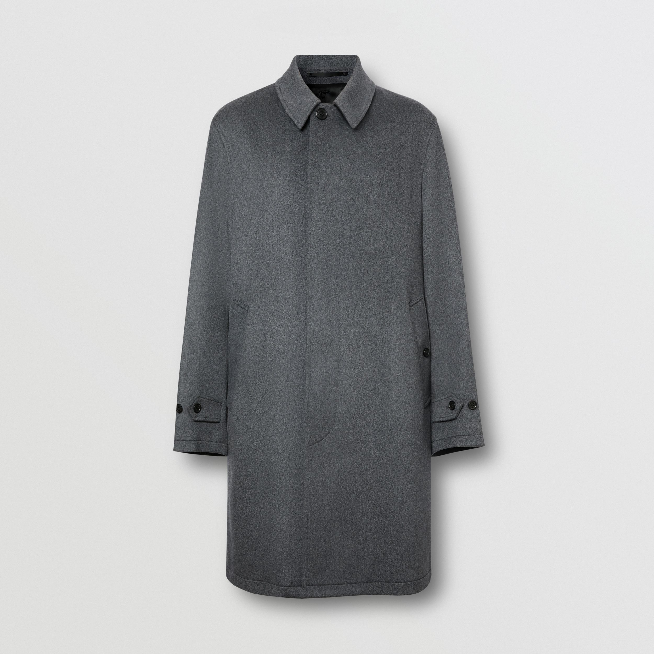 Cashmere Car Coat in Pewter Melange - Men | Burberry Canada - 4