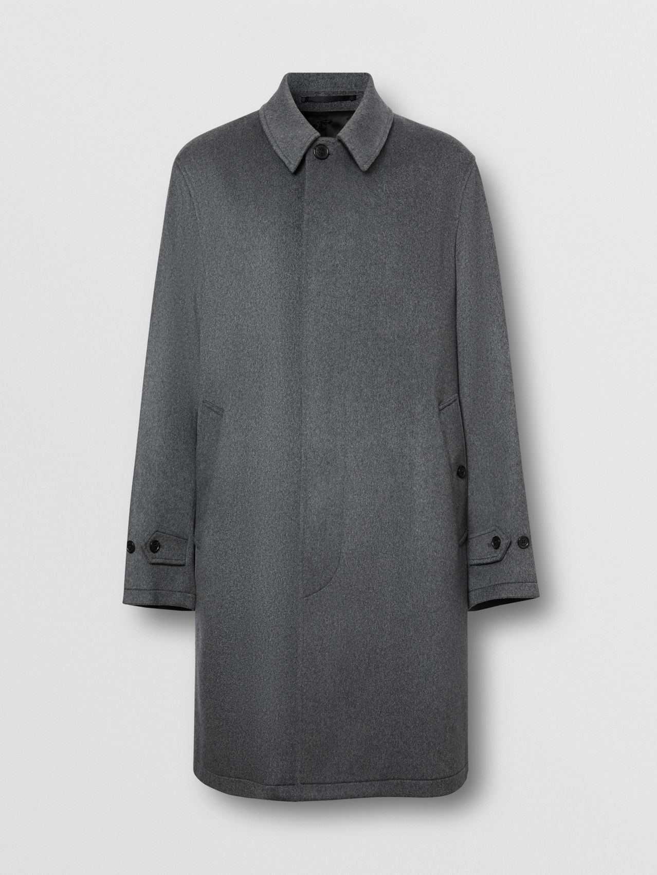 Cashmere Car Coat (Pewter Melange)