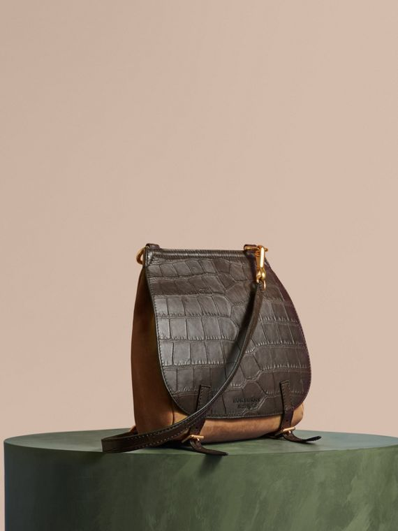 The Small Bridle Bag in Alligator and Suede