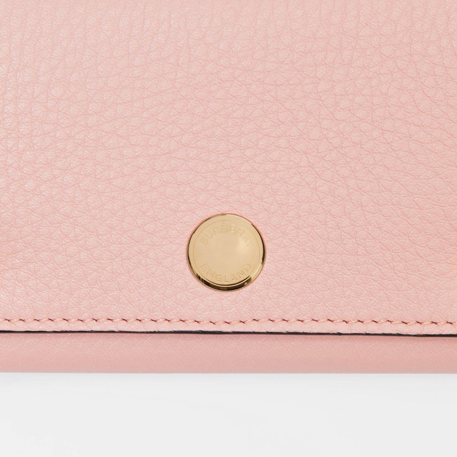 Triple Stud Leather Folding Wallet in Pale Ash Rose - Women | Burberry - gallery image 1
