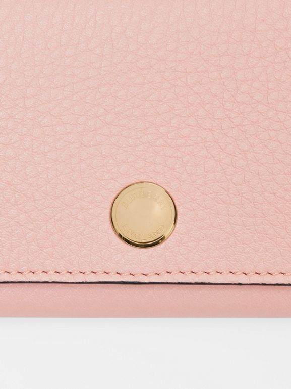 Triple Stud Leather Folding Wallet in Pale Ash Rose - Women | Burberry - cell image 1