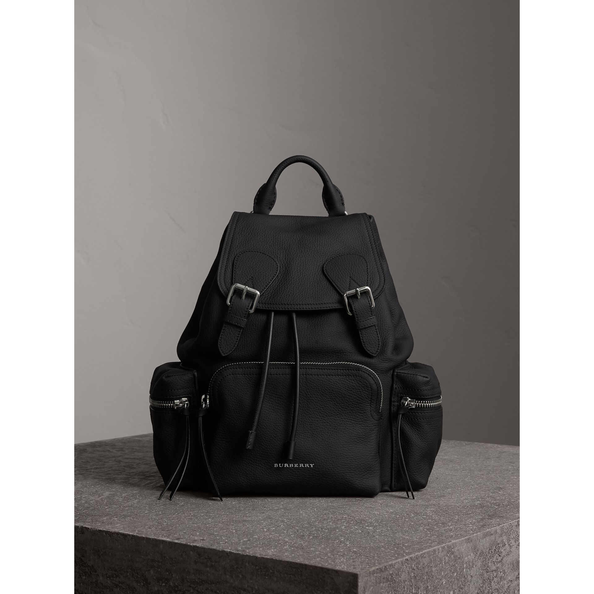 The Medium Rucksack in Deerskin with Resin Chain in Black - Women | Burberry Canada - gallery image 1