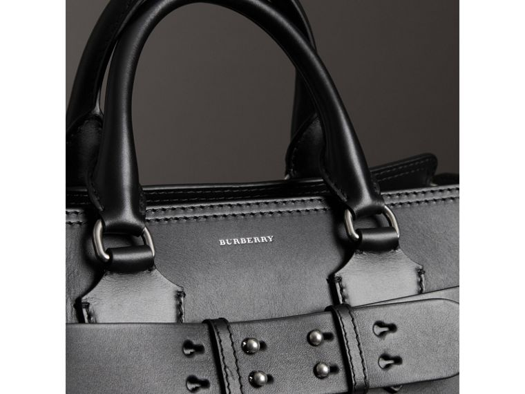 The Medium Canvas and Leather Belt Bag in Black/stone - Women | Burberry - cell image 1