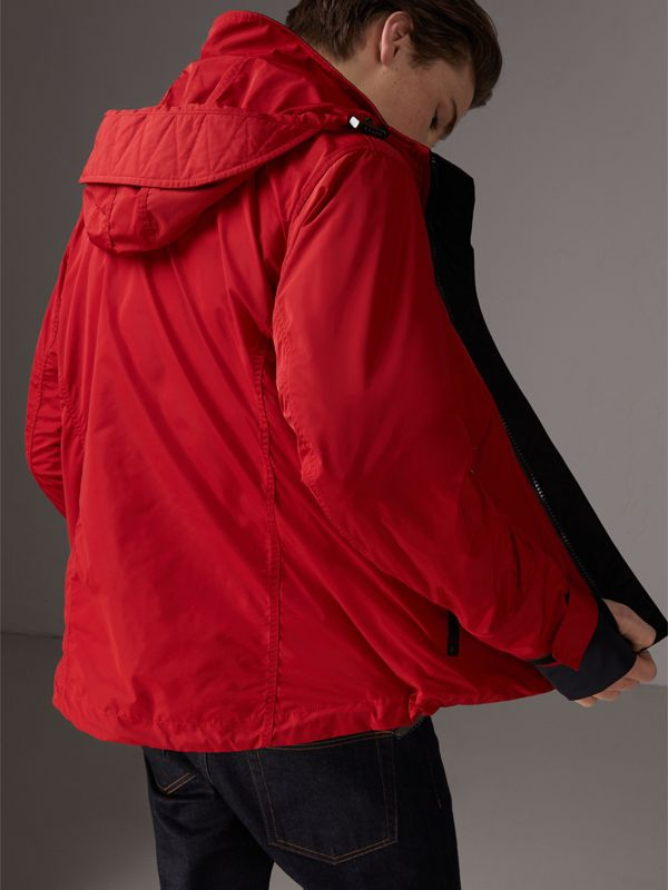 Packaway Hood Shape-memory Taffeta Jacket in Military Red | Burberry - cell image 2