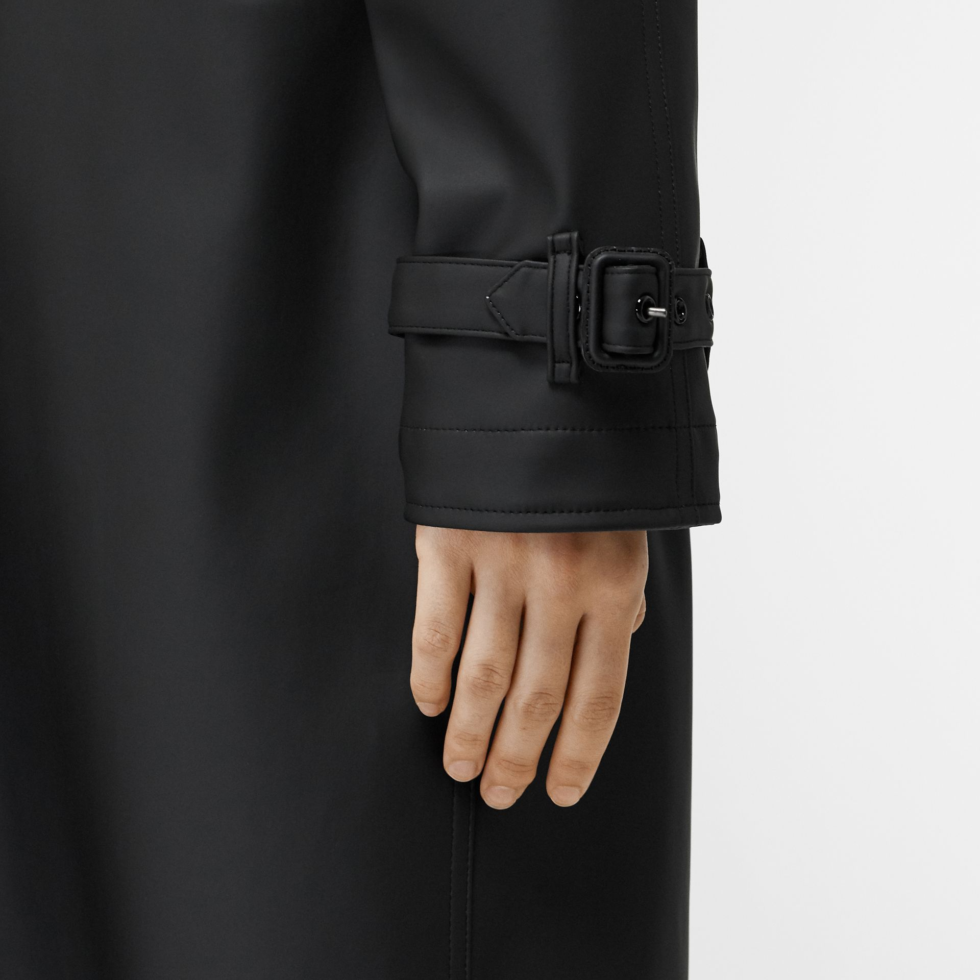 Logo Detail Showerproof Trench Coat in Black/white - Women | Burberry - gallery image 8
