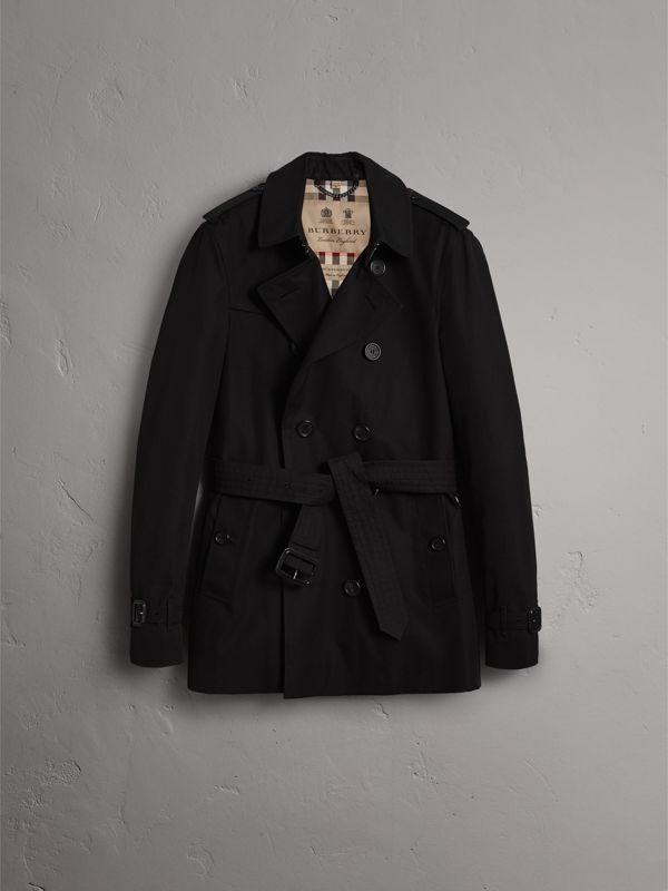 The Chelsea – Short Trench Coat in Black - Men | Burberry Singapore - cell image 3