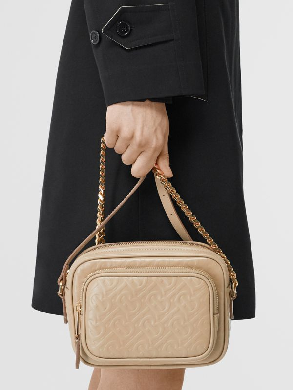 Monogram Leather Camera Bag in Honey - Women | Burberry Singapore - cell image 2