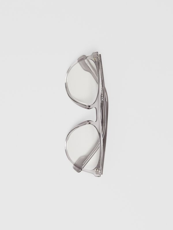 Keyhole D-shaped Optical Frames in Grey - Men | Burberry Singapore - cell image 3