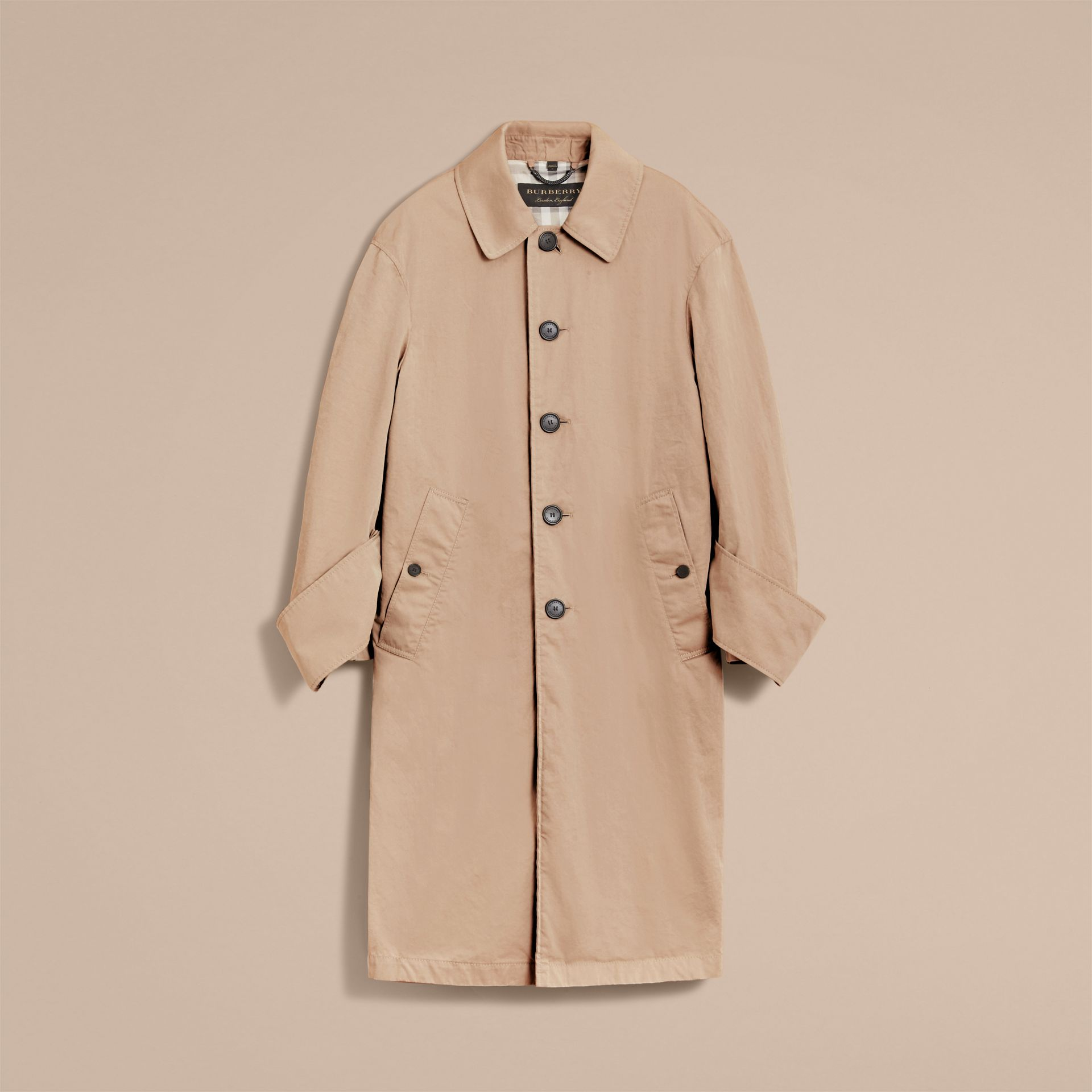 Unisex Tropical Gabardine Car Coat with Exaggerated Cuffs - Men | Burberry - gallery image 4