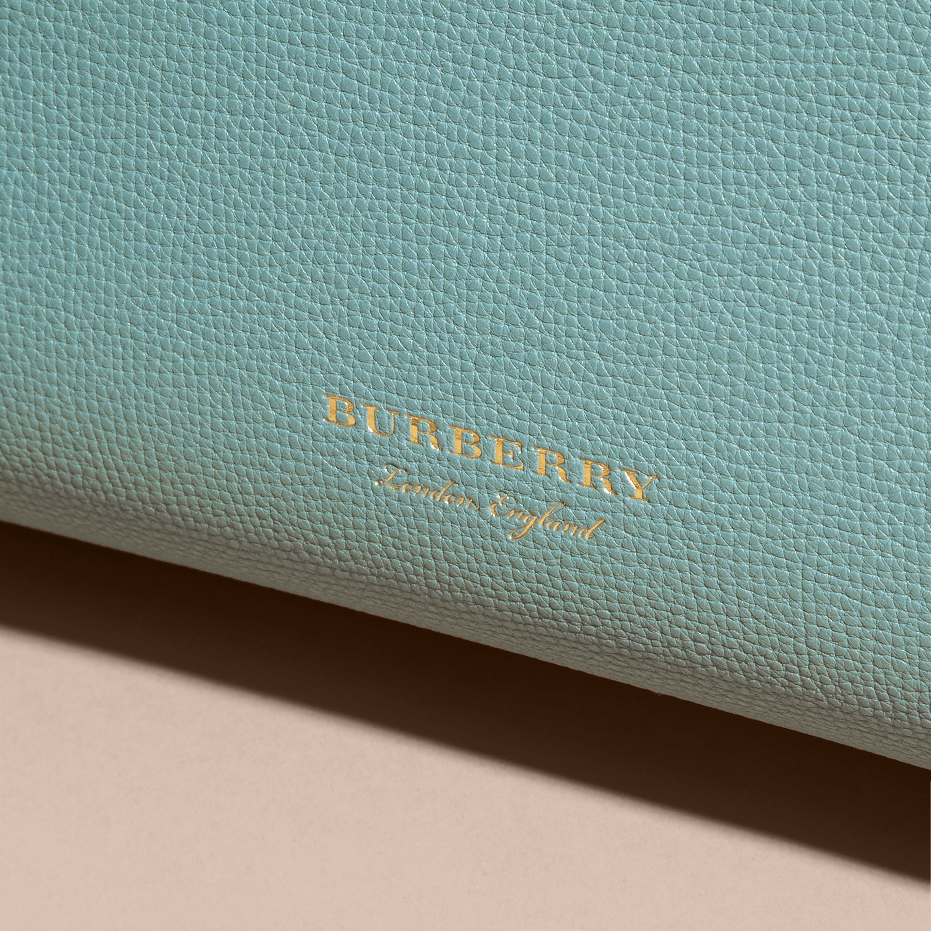 The Medium Banner in Leather with Tonal Appliqué in Celadon Blue - Women | Burberry - gallery image 2