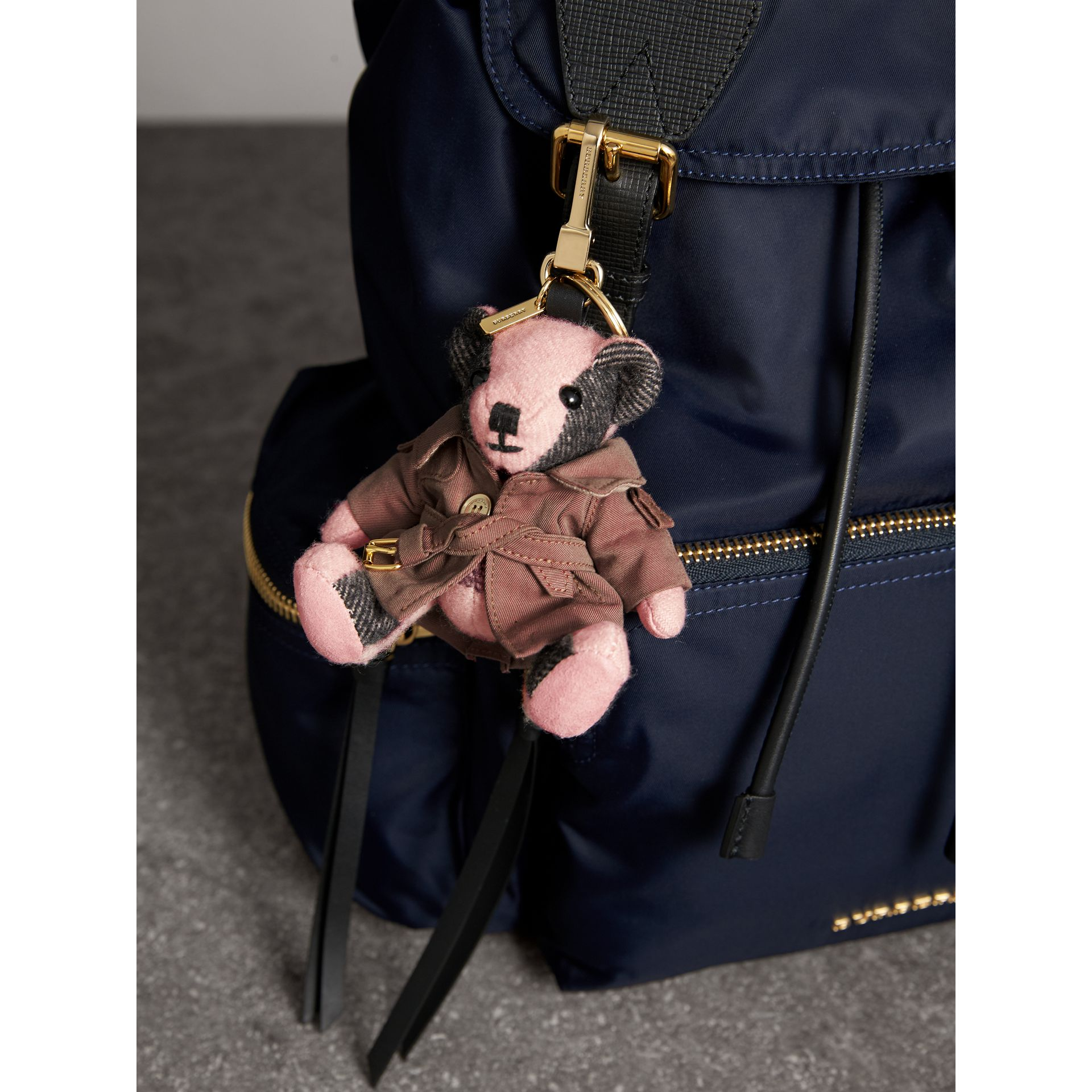 Thomas Bear Charm with Tropical Gabardine Trench Coat in Ash Rose - Women | Burberry United States - gallery image 3