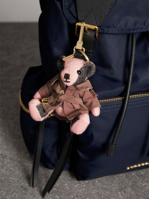 Thomas Bear Charm with Tropical Gabardine Trench Coat in Ash Rose - Women | Burberry United States - cell image 2