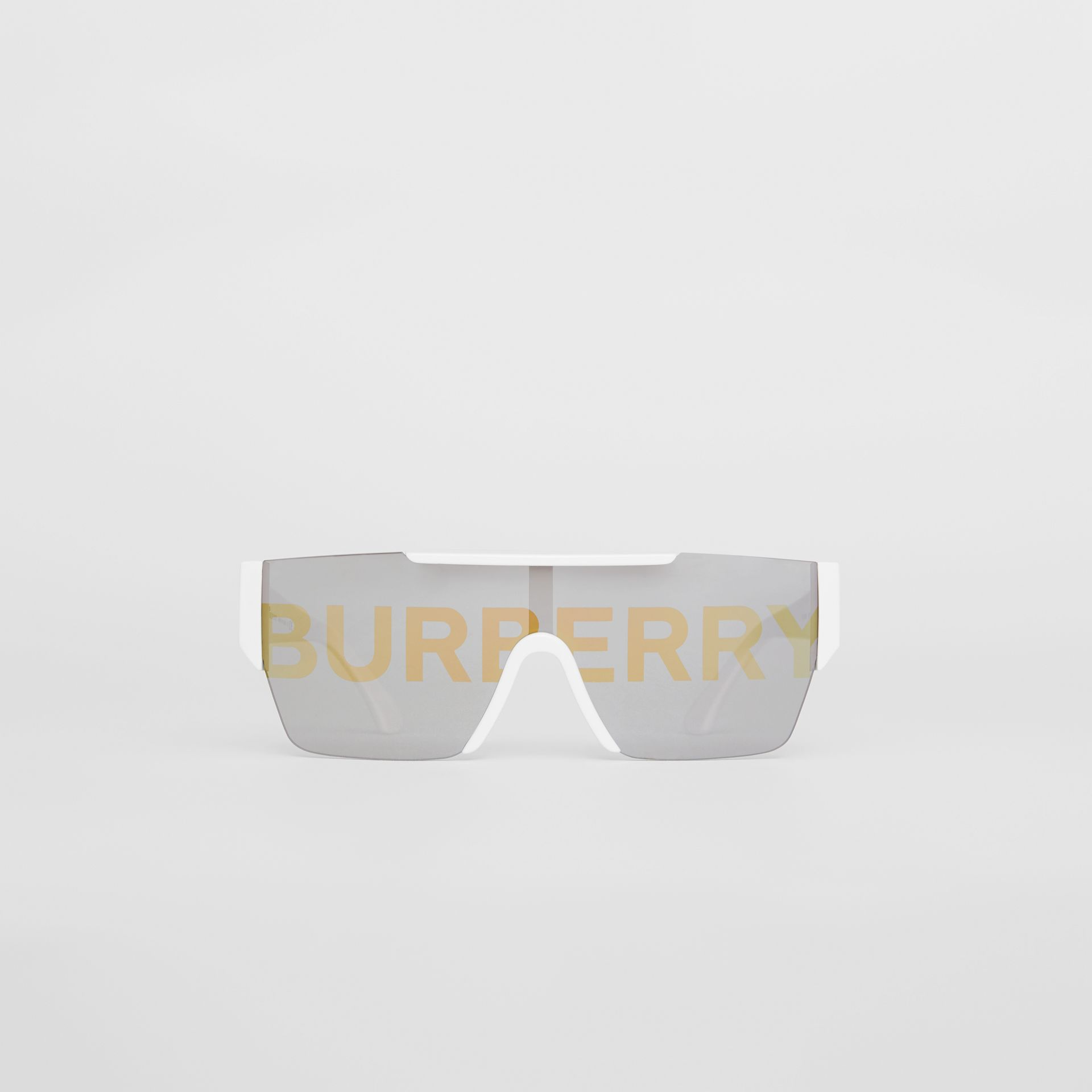 Logo Lens D-frame Sunglasses in White | Burberry United Kingdom - gallery image 0