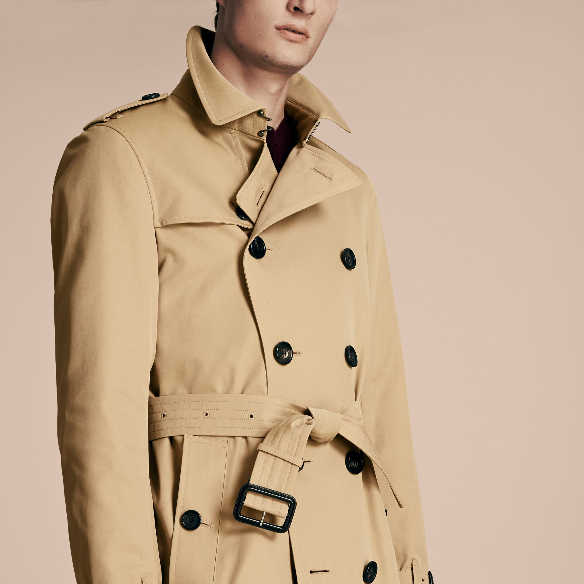 Honey The Sandringham – Long Heritage Trench Coat Honey - gallery image 6