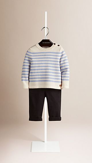 Breton Stripe Wool Cotton Sweater
