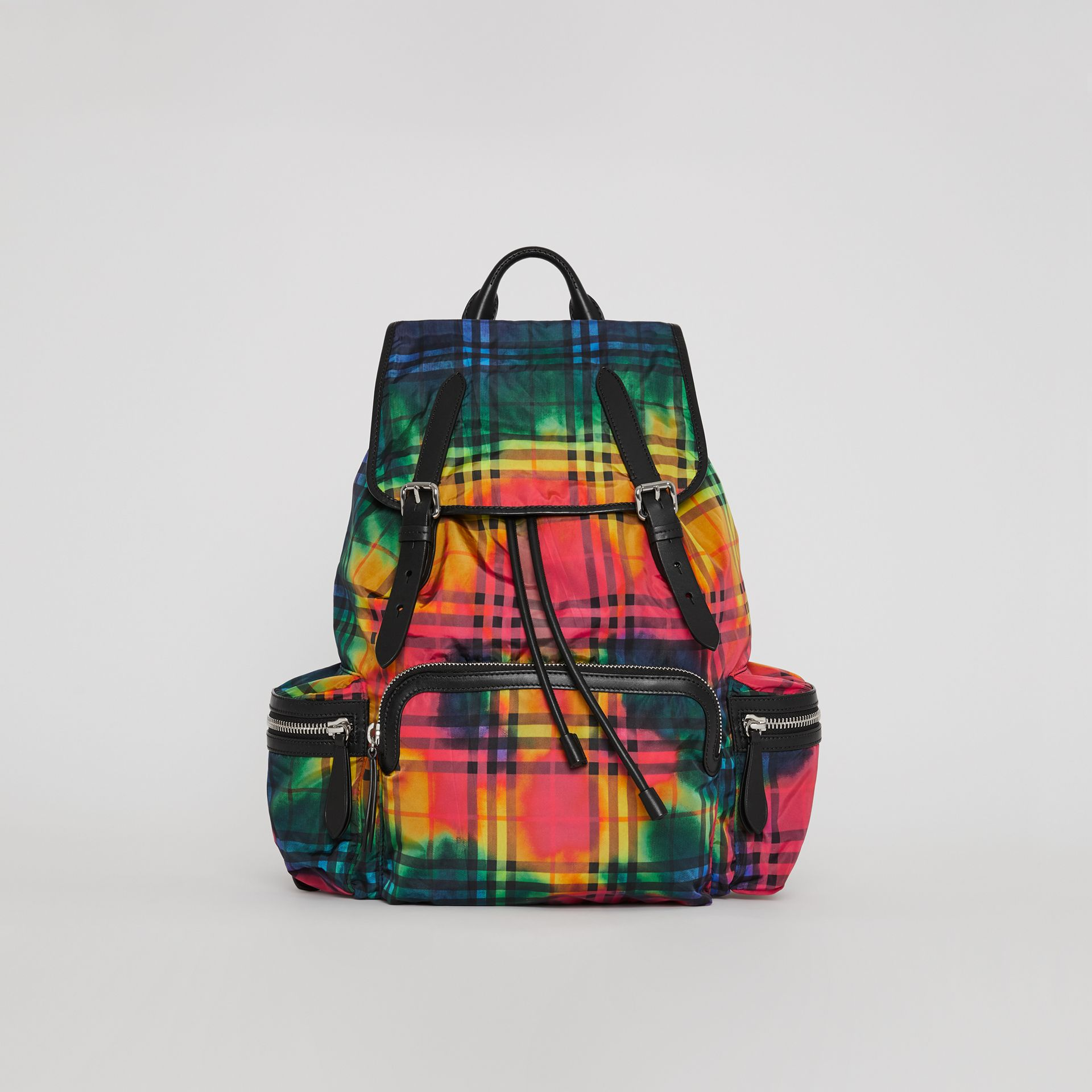 The Large Rucksack in Tie-dye Vintage Check in Multicolour | Burberry - gallery image 0