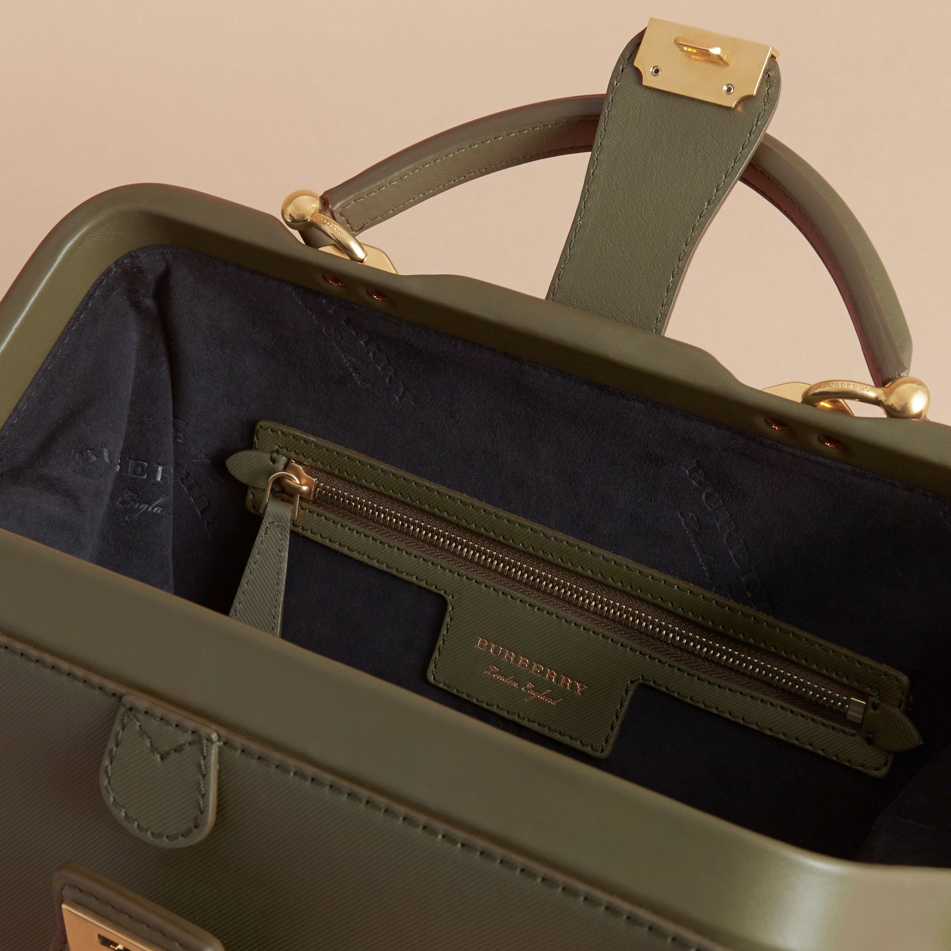 The DK88 Bowling Bag in Moss Green - Women | Burberry United Kingdom - gallery image 6