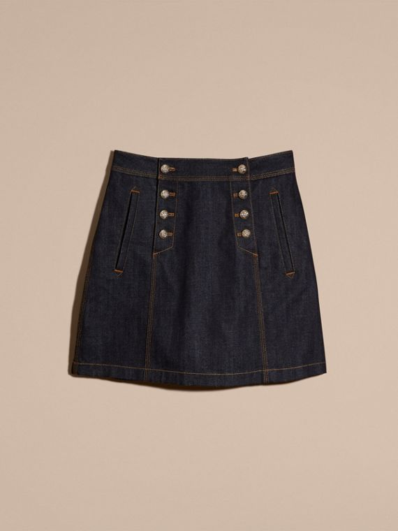 Indigo Denim A-line Skirt - cell image 3