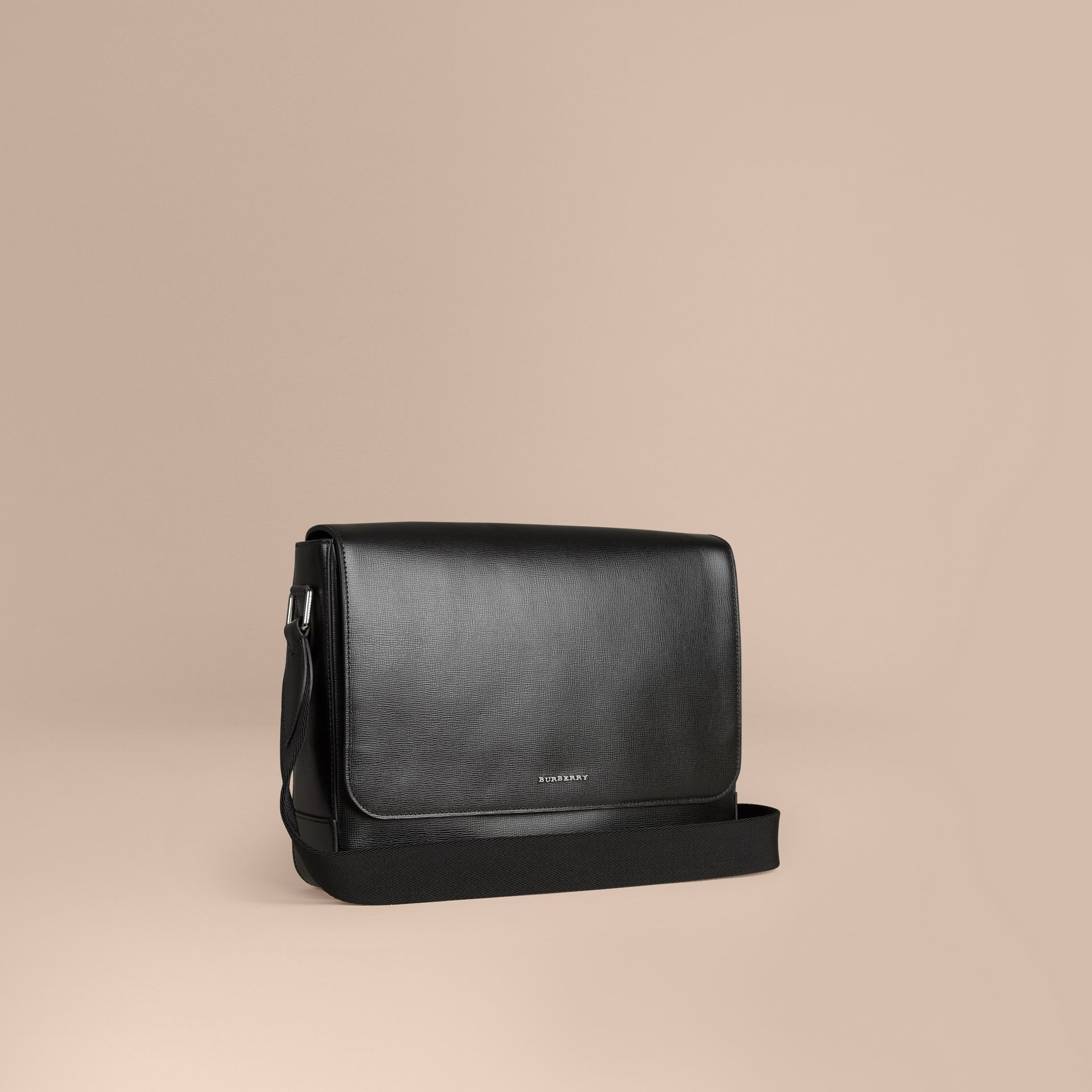 Black London Leather Briefcase Black - gallery image 1