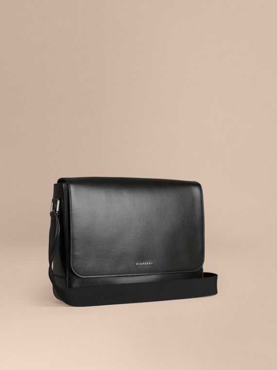 London Leather Briefcase Black