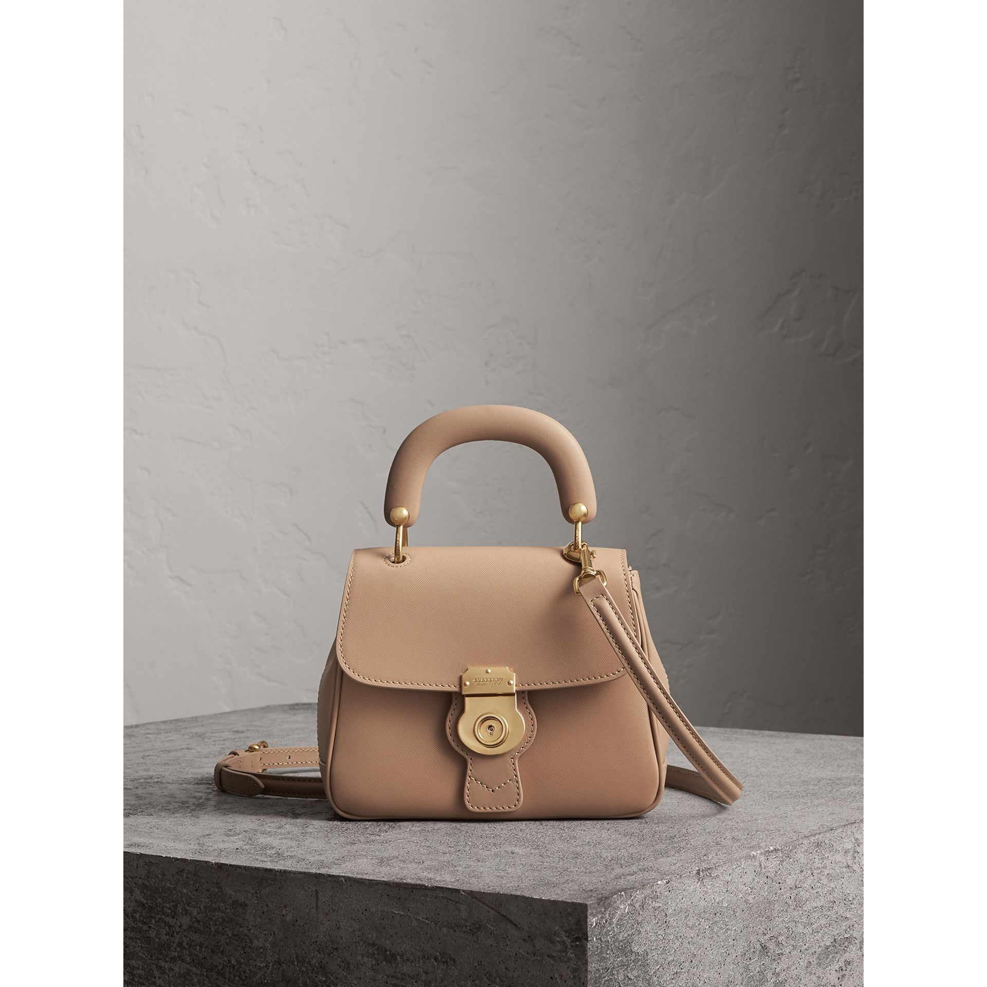 The Small DK88 Top Handle Bag in Honey - Women | Burberry Singapore - gallery image 1
