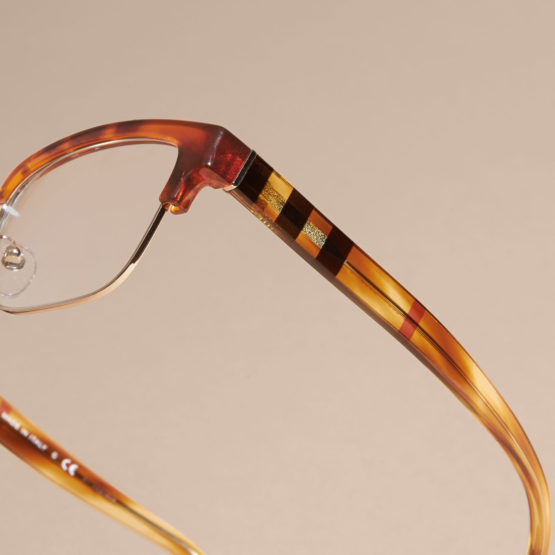 Half-rimmed Oval Optical Frames Light Russet Brown - gallery image 2
