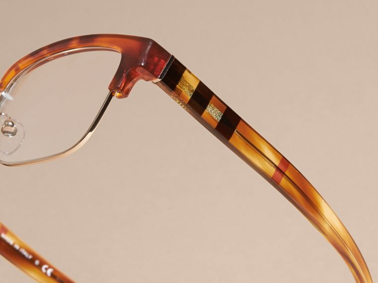 Half-rimmed Oval Optical Frames Light Russet Brown - cell image 1