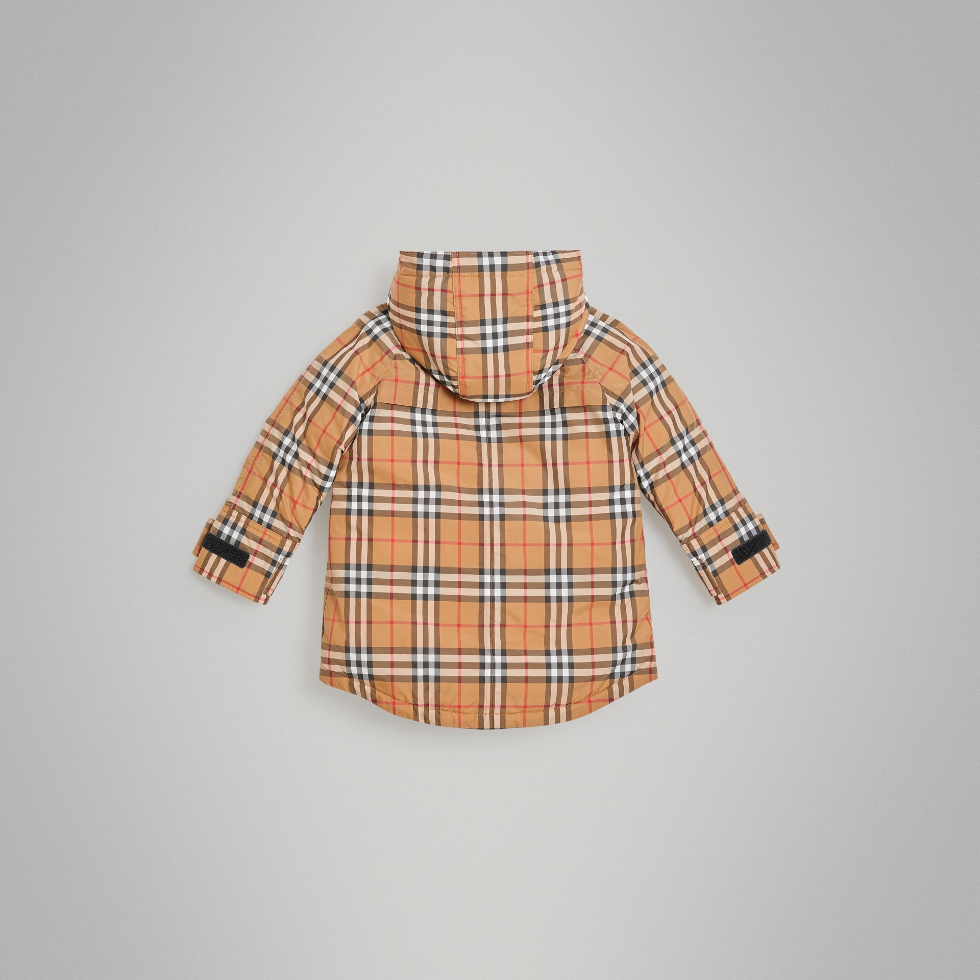 Vintage Check Down-filled Hooded Puffer Jacket in Antique Yellow | Burberry Canada - gallery image 3