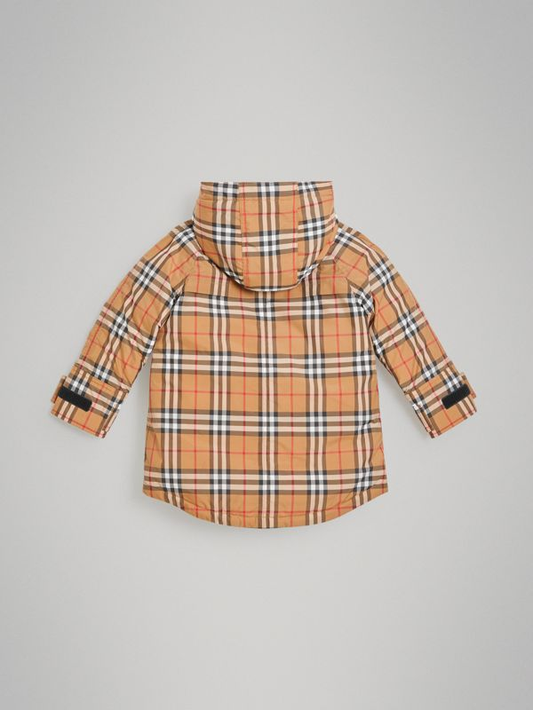 Vintage Check Down-filled Hooded Puffer Jacket in Antique Yellow | Burberry United Kingdom - cell image 3