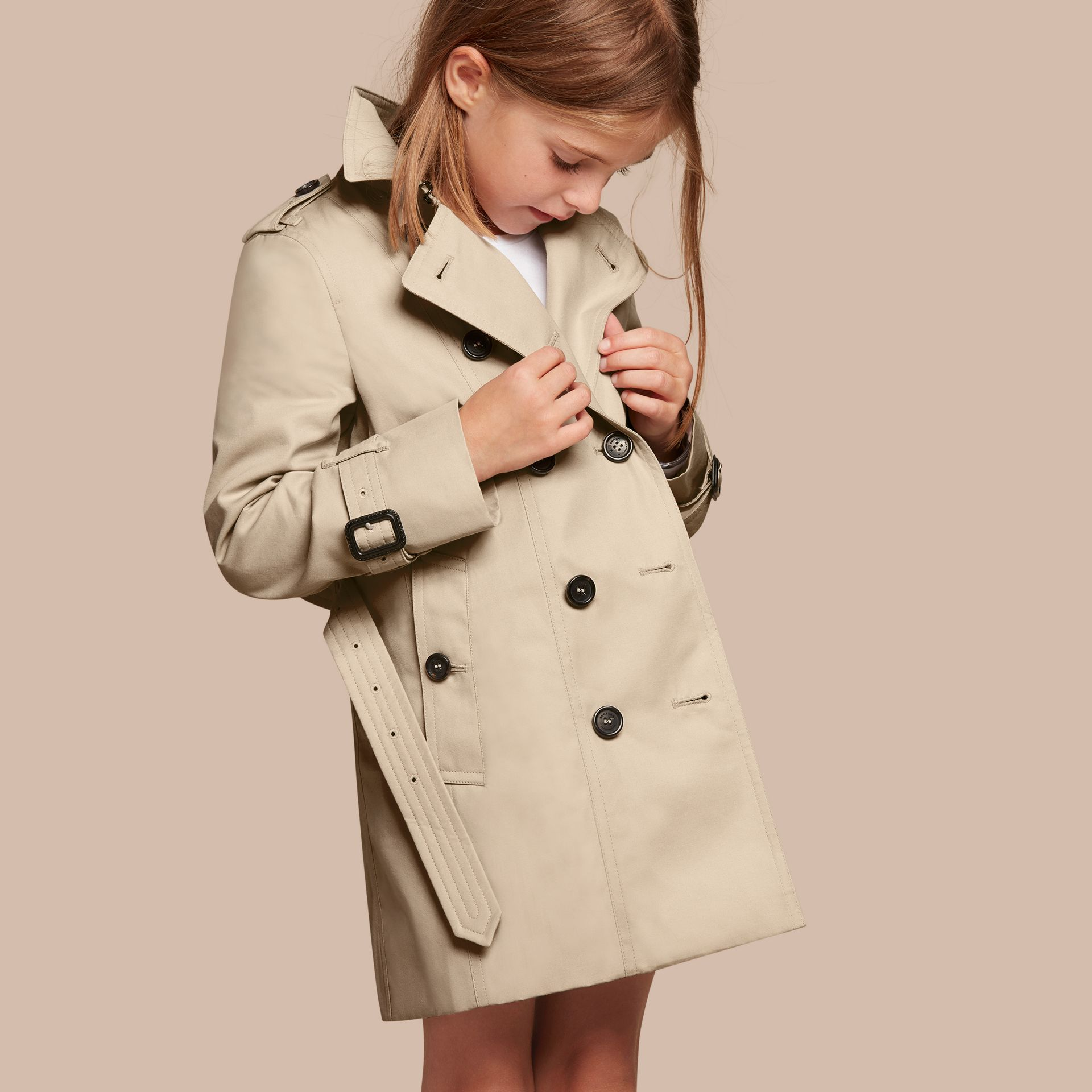 The Sandringham - Trench coat Heritage - Bambina | Burberry - immagine della galleria 1