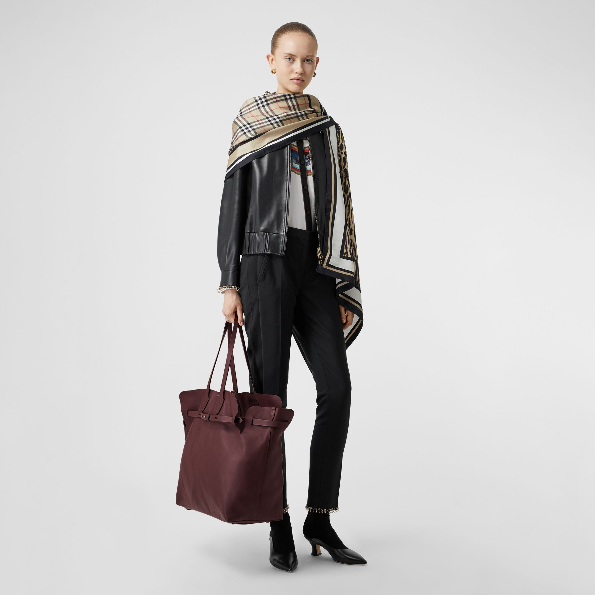 The Medium Soft Leather Belt Bag in Deep Claret - Women | Burberry - gallery image 5