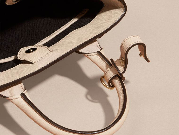 The Small Banner in Leather and House Check in Limestone - Women | Burberry United Kingdom - cell image 4